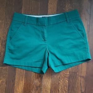 NWT J. CREW Green Chino Shorts size 2